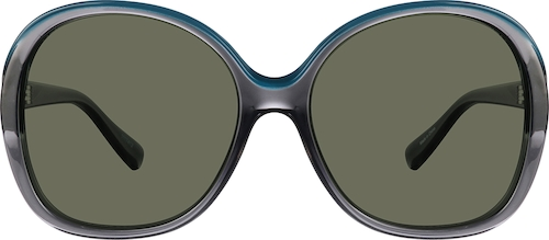 Translucent Gray Premium Square Sunglasses