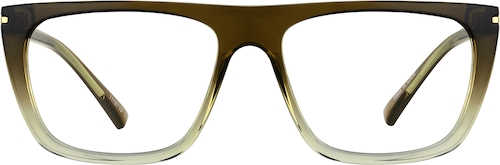 Brown/Clear Rectangle Glasses