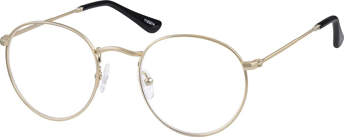 Gold Sepulveda Round Eyeglasses 1125214