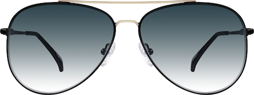Black Premium Aviator Sunglasses