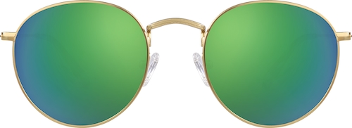 Gold Premium Round Sunglasses