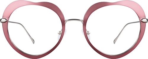 Pink Heart-Shaped Glasses