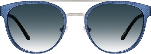 Blue Premium Round Sunglasses
