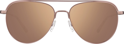 Rose Gold Premium Aviator Sunglasses