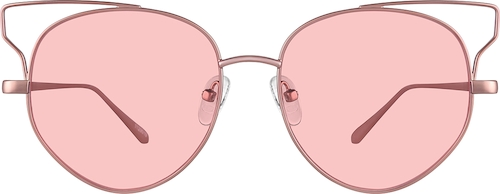 Rose Gold Premium Cat-Eye Sunglasses
