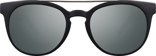 Black Premium Round Sunglasses