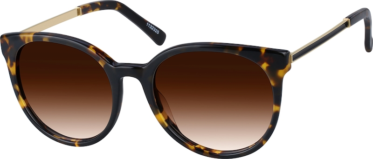 1bbb8483d409 Black Premium Round Sunglasses  1132321