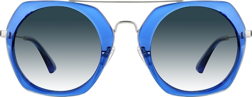 Blue Premium Geometric Sunglasses