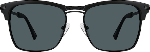 Black Premium Browline Sunglasses