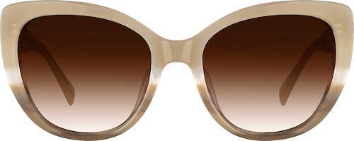 Taupe Premium Cat-Eye Sunglasses