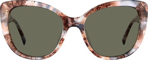 Pink Pattern Premium Cat-Eye Sunglasses
