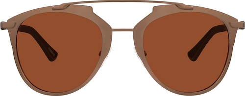 Brown Premium Aviator Sunglasses