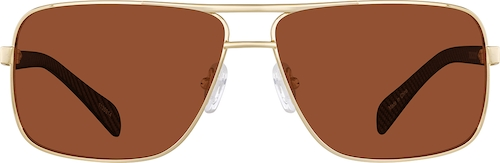Gold Premium Aviator Sunglasses