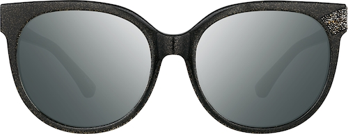 Black Shimmer Premium Cat-Eye Sunglasses
