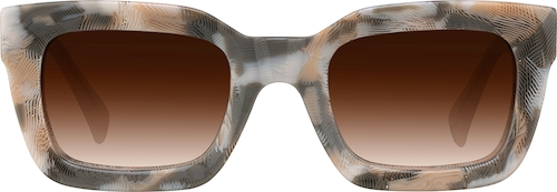 Blush Pattern Premium Square Sunglasses