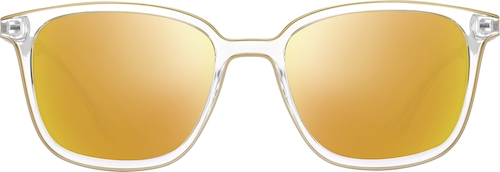 Gold Premium Square Sunglasses