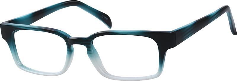 Blue Plastic Full-Rim Frame #120626