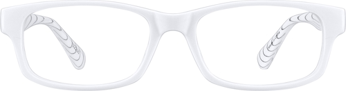 White Rectangle Glasses