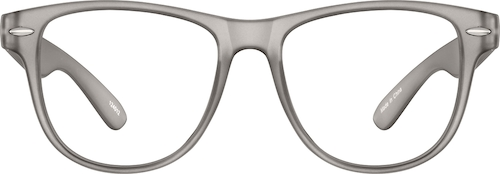 Gray Kid's Square Glasses