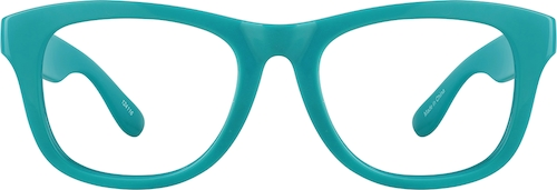 Teal Square Glasses