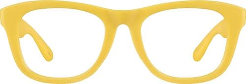 Yellow Square Glasses