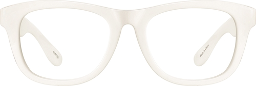 White Square Glasses