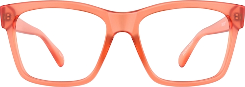 Coral Square Glasses