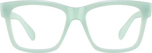 Aquamarine Square Glasses