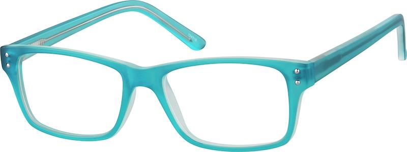 Blue Rectangle Glasses #124516