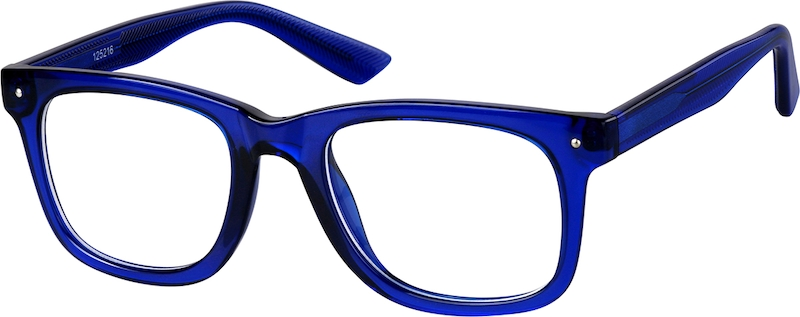 blue square eyeglasses 125216