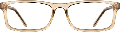Cream Rectangle Glasses