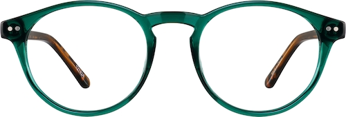 Emerald Round Glasses