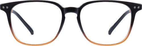 Black Pattern Square Glasses