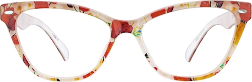 Coral Cat-Eye Glasses