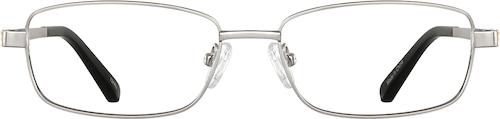 Silver Titanium Rectangle Glasses