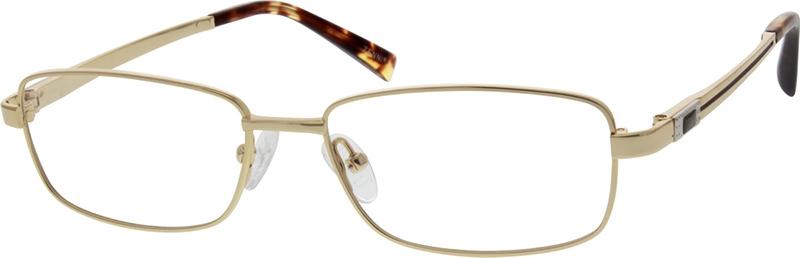f4e050d244f8 Gold Titanium Rectangle Glasses  131714