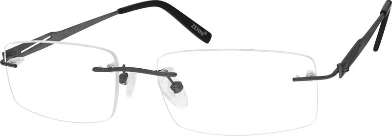 e8e53c1b682d Gray Titanium Rimless Glasses #131812