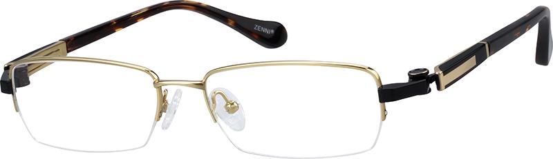 a1e31a69d5 Gold Titanium Rectangle Glasses  132014