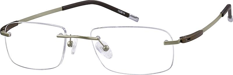 87610b2dd861 Gold Titanium Rimless Glasses #133614