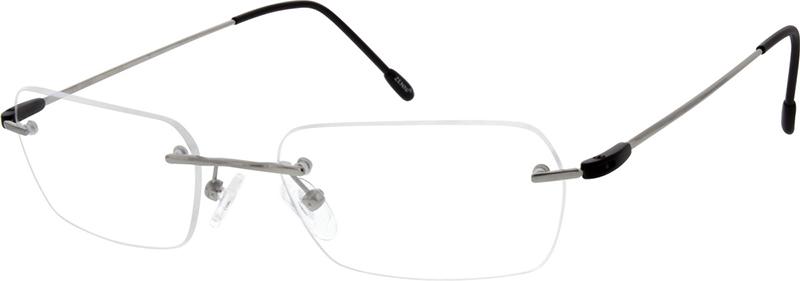 Gold Rimless Titanium Eyeglasses #133714