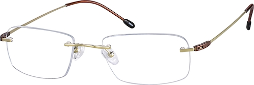 Gold Titanium Rimless Glasses
