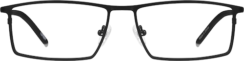 Black Titanium Rectangle Glasses