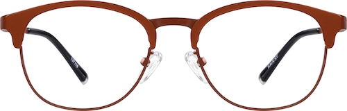 Red Titanium Browline Glasses