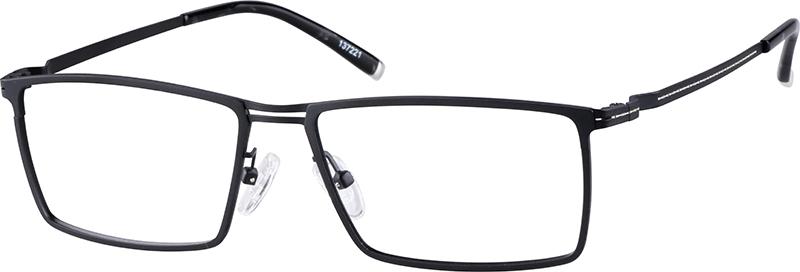 39683c266a38 Black Titanium Rectangle Glasses  137221