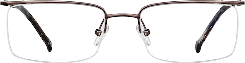 Brown Titanium Rectangle Glasses