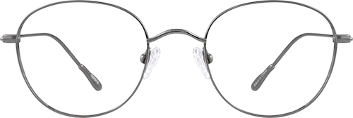 Gray Titanium Round Glasses