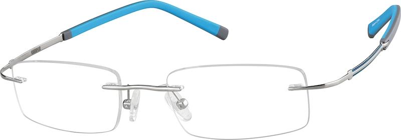 77fb2517afdd Gray Titanium Rimless Glasses #138012
