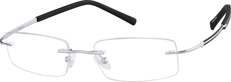 3092c09c7a13 Gray Titanium Rimless Glasses #138012