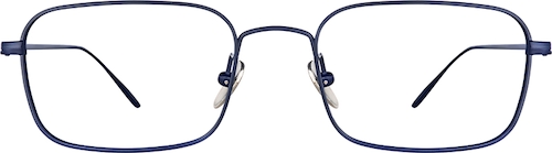 Navy Titanium Rectangle Glasses