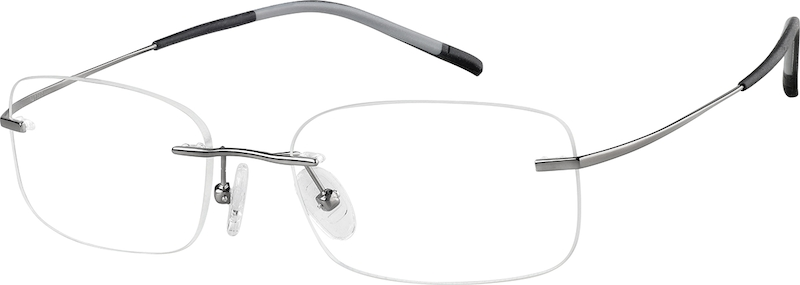 07c4f118a832 Gray Titanium Rimless Glasses  138212